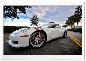 Chevrolet Corvette White HD Wide Wallpaper for Widescreen