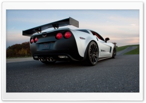 Chevrolet Corvette Z06X Rear HD Wide Wallpaper for Widescreen