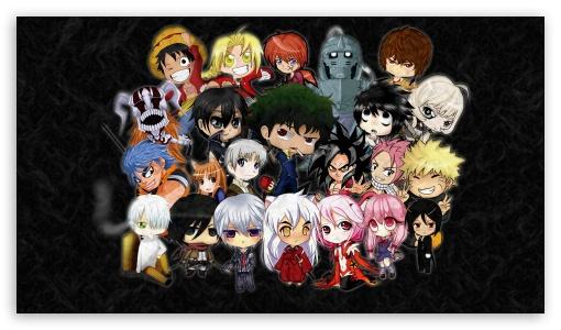 Chibi Characters Ultra Hd Desktop Background Wallpaper For 4k Uhd Tv