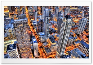 Chicago At Night HD Wide Wallpaper for 4K UHD Widescreen desktop & smartphone