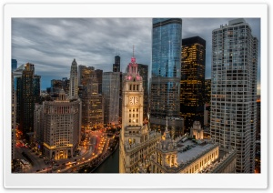 Chicago Buildings HD Wide Wallpaper for 4K UHD Widescreen desktop & smartphone