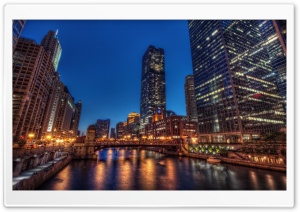 Chicago by Night HD Wide Wallpaper for Widescreen