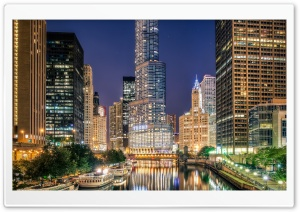 Chicago City Illinois HD Wide Wallpaper for 4K UHD Widescreen desktop & smartphone