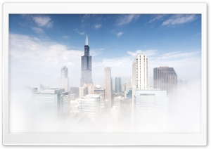 Chicago Fog HD Wide Wallpaper for Widescreen