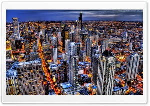 Chicago, Illinois HDR HD Wide Wallpaper for 4K UHD Widescreen desktop & smartphone
