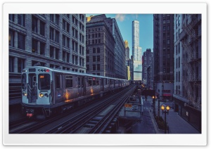 Chicago Illinois Trains HD Wide Wallpaper for Widescreen