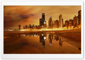 Chicago Late Evening HD Wide Wallpaper for 4K UHD Widescreen desktop & smartphone