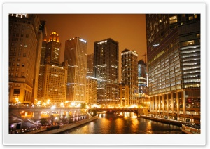 Chicago River HD Wide Wallpaper for Widescreen