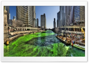 Chicago River HDR HD Wide Wallpaper for Widescreen