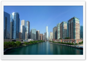 Chicago River Panorama HD Wide Wallpaper for Widescreen