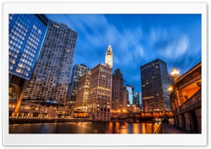 Chicago Riverwalk HD Wide Wallpaper for 4K UHD Widescreen desktop & smartphone