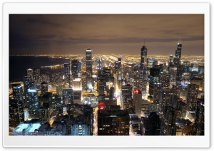 Chicago Skyline From John Hancock HD Wide Wallpaper for 4K UHD Widescreen desktop & smartphone