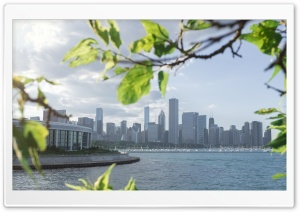 Chicago Skyline Summer HD Wide Wallpaper for 4K UHD Widescreen desktop & smartphone