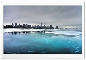 Chicago Winter HD Wide Wallpaper for Widescreen