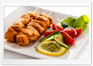 Chicken Skewers HD Wide Wallpaper for Widescreen