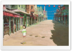 Chihiro On The Street HD Wide Wallpaper for Widescreen