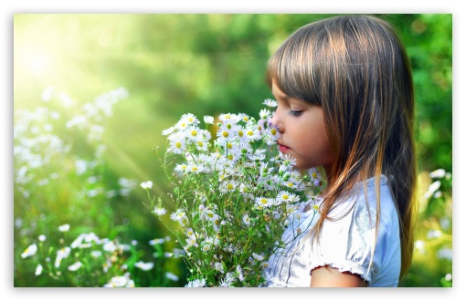 Child And Flowers HD wallpaper for Wide 16:10 5:3 Widescreen WHXGA WQXGA WUXGA WXGA WGA ; HD 16:9 High Definition WQHD QWXGA 1080p 900p 720p QHD nHD ; Standard 4:3 5:4 3:2 Fullscreen UXGA XGA SVGA QSXGA SXGA DVGA HVGA HQVGA devices ( Apple PowerBook G4 iPhone 4 3G 3GS iPod Touch ) ; Tablet 1:1 ; iPad 1/2/Mini ; Mobile 4:3 5:3 3:2 16:9 5:4 - UXGA XGA SVGA WGA DVGA HVGA HQVGA devices ( Apple PowerBook G4 iPhone 4 3G 3GS iPod Touch ) WQHD QWXGA 1080p 900p 720p QHD nHD QSXGA SXGA ;