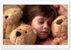 Child Girl Sleeping HD Wide Wallpaper for Widescreen
