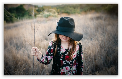 Child Girl wearing a Hat, Outdoor ❤ 4K UHD Wallpaper for Wide 16:10 5:3 Widescreen WHXGA WQXGA WUXGA WXGA WGA ; 4K UHD 16:9 Ultra High Definition 2160p 1440p 1080p 900p 720p ; Standard 4:3 5:4 3:2 Fullscreen UXGA XGA SVGA QSXGA SXGA DVGA HVGA HQVGA ( Apple PowerBook G4 iPhone 4 3G 3GS iPod Touch ) ; Smartphone 16:9 3:2 5:3 2160p 1440p 1080p 900p 720p DVGA HVGA HQVGA ( Apple PowerBook G4 iPhone 4 3G 3GS iPod Touch ) WGA ; Tablet 1:1 ; iPad 1/2/Mini ; Mobile 4:3 5:3 3:2 16:9 5:4 - UXGA XGA SVGA WGA DVGA HVGA HQVGA ( Apple PowerBook G4 iPhone 4 3G 3GS iPod Touch ) 2160p 1440p 1080p 900p 720p QSXGA SXGA ;