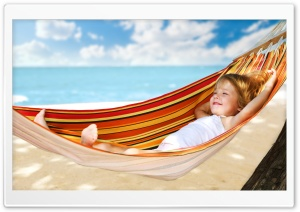 Child In Hammock HD Wide Wallpaper for Widescreen