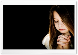 Child Praying HD Wide Wallpaper for 4K UHD Widescreen desktop & smartphone