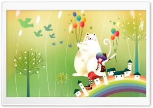 Childhood Fairytales Over The Rainbow HD Wide Wallpaper for Widescreen