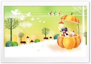 Childhood Fairytales Pumpkin HD Wide Wallpaper for 4K UHD Widescreen desktop & smartphone