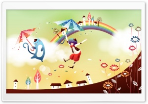 Childhood Fairytales Rainbow HD Wide Wallpaper for 4K UHD Widescreen desktop & smartphone