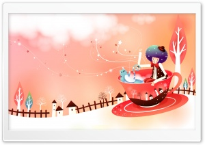 Childhood Fairytales Tea Cup Ride HD Wide Wallpaper for Widescreen