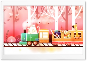 Childhood Fairytales Train HD Wide Wallpaper for 4K UHD Widescreen desktop & smartphone