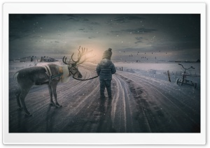 Childhood Winter Memories HD Wide Wallpaper for Widescreen