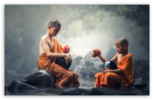 children buddhist monks 4k hd desktop wallpaper for 4k