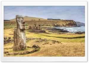 Chile Stones Easter Island Rapa Nui Ultra HD Wallpaper for 4K UHD Widescreen desktop, tablet & smartphone