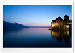 Chillon Castle, Montreux HD Wide Wallpaper for 4K UHD Widescreen desktop & smartphone