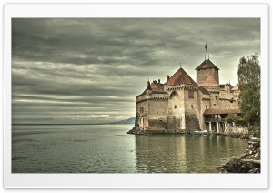 Chillon Castle, Switzerland HD Wide Wallpaper for 4K UHD Widescreen desktop & smartphone