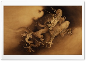 Chinese Dragons HD Wide Wallpaper for Widescreen