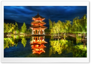 Chinese Pagoda HD Wide Wallpaper for 4K UHD Widescreen desktop & smartphone