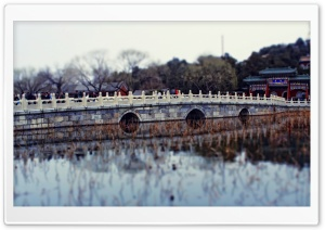 Chinese Stone Bridge HD Wide Wallpaper for Widescreen