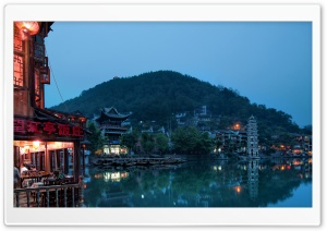 Chinese Town HD Wide Wallpaper for Widescreen