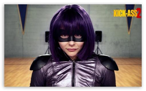 Chloe Moretz in Kick-Ass 2 HD wallpaper for Wide 5:3 Widescreen WGA ; HD 16:9 High Definition WQHD QWXGA 1080p 900p 720p QHD nHD ; Mobile 5:3 16:9 - WGA WQHD QWXGA 1080p 900p 720p QHD nHD ;