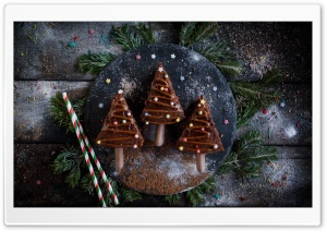 Chocolate Christmas Tree Cake Ultra HD Wallpaper for 4K UHD Widescreen desktop, tablet & smartphone