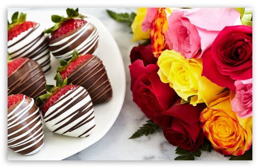 Chocolate Dipped Strawberries and Colorful Roses ❤ 4K UHD Wallpaper for Wide 16:10 5:3 Widescreen WHXGA WQXGA WUXGA WXGA WGA ; 4K UHD 16:9 Ultra High Definition 2160p 1440p 1080p 900p 720p ; Standard 4:3 5:4 3:2 Fullscreen UXGA XGA SVGA QSXGA SXGA DVGA HVGA HQVGA ( Apple PowerBook G4 iPhone 4 3G 3GS iPod Touch ) ; Smartphone 3:2 5:3 DVGA HVGA HQVGA ( Apple PowerBook G4 iPhone 4 3G 3GS iPod Touch ) WGA ; iPad 1/2/Mini ; Mobile 4:3 5:3 3:2 16:9 5:4 - UXGA XGA SVGA WGA DVGA HVGA HQVGA ( Apple PowerBook G4 iPhone 4 3G 3GS iPod Touch ) 2160p 1440p 1080p 900p 720p QSXGA SXGA ; Dual 16:10 5:3 16:9 4:3 5:4 WHXGA WQXGA WUXGA WXGA WGA 2160p 1440p 1080p 900p 720p UXGA XGA SVGA QSXGA SXGA ;