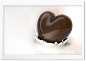 Chocolate Heart HD Wide Wallpaper for Widescreen