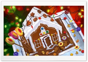 Chocolate House Christmas HD Wide Wallpaper for 4K UHD Widescreen desktop & smartphone