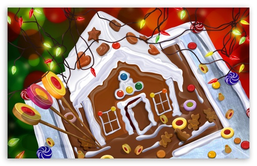 Chocolate House Christmas HD wallpaper for Wide 16:10 5:3 Widescreen WHXGA WQXGA WUXGA WXGA WGA ; HD 16:9 High Definition WQHD QWXGA 1080p 900p 720p QHD nHD ; Standard 3:2 Fullscreen DVGA HVGA HQVGA devices ( Apple PowerBook G4 iPhone 4 3G 3GS iPod Touch ) ; Mobile 5:3 3:2 16:9 - WGA DVGA HVGA HQVGA devices ( Apple PowerBook G4 iPhone 4 3G 3GS iPod Touch ) WQHD QWXGA 1080p 900p 720p QHD nHD ;