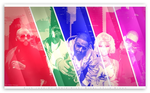 Chris Brown, Nicki Minaj, Rick Ross, Dj Khaled, Lil Wayne - Take it to the Head HD HD wallpaper for Wide 5:3 Widescreen WGA ; HD 16:9 High Definition WQHD QWXGA 1080p 900p 720p QHD nHD ; Mobile 5:3 16:9 - WGA WQHD QWXGA 1080p 900p 720p QHD nHD ;
