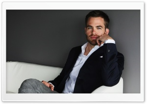 Chris Pine HD Wide Wallpaper for Widescreen