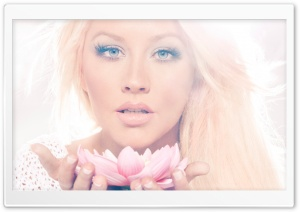 Christina Aguilera Lotus HD Wide Wallpaper for Widescreen