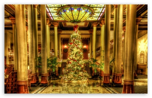 Christmas - Driskill Hotel Lobby, Texas HD wallpaper for Wide 16:10 5:3 Widescreen WHXGA WQXGA WUXGA WXGA WGA ; HD 16:9 High Definition WQHD QWXGA 1080p 900p 720p QHD nHD ; Standard 4:3 5:4 3:2 Fullscreen UXGA XGA SVGA QSXGA SXGA DVGA HVGA HQVGA devices ( Apple PowerBook G4 iPhone 4 3G 3GS iPod Touch ) ; Tablet 1:1 ; iPad 1/2/Mini ; Mobile 4:3 5:3 3:2 16:9 5:4 - UXGA XGA SVGA WGA DVGA HVGA HQVGA devices ( Apple PowerBook G4 iPhone 4 3G 3GS iPod Touch ) WQHD QWXGA 1080p 900p 720p QHD nHD QSXGA SXGA ;