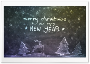 Christmas and New Year HD Wide Wallpaper for Widescreen